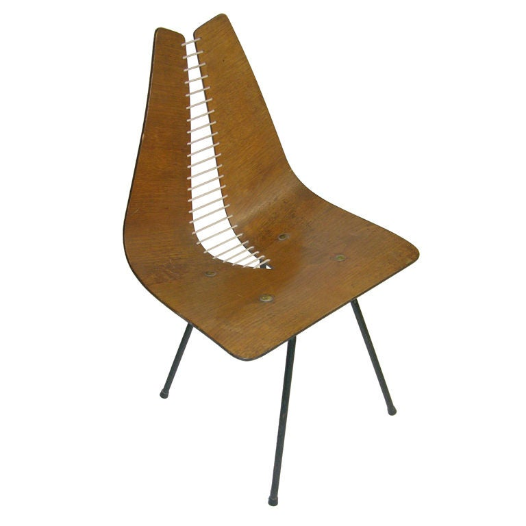 Carl Wood Organic Design Chair at 1stdibs