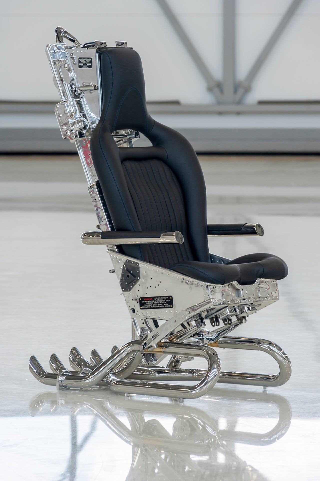 ejection seat office chair first years high martin baker mk3 black edition for