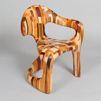 """""""Corsica"""" Unique Chair in Mixed Timbers, England, 2010 at ..."""
