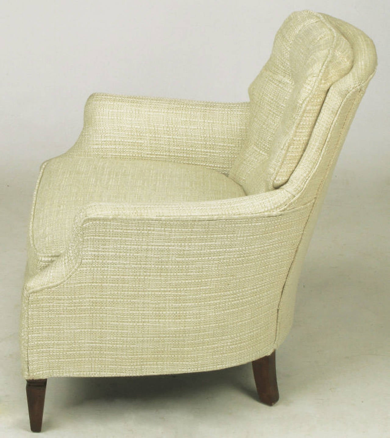 tufted chair and ottoman office price in pakistan button creamy linen lounge for