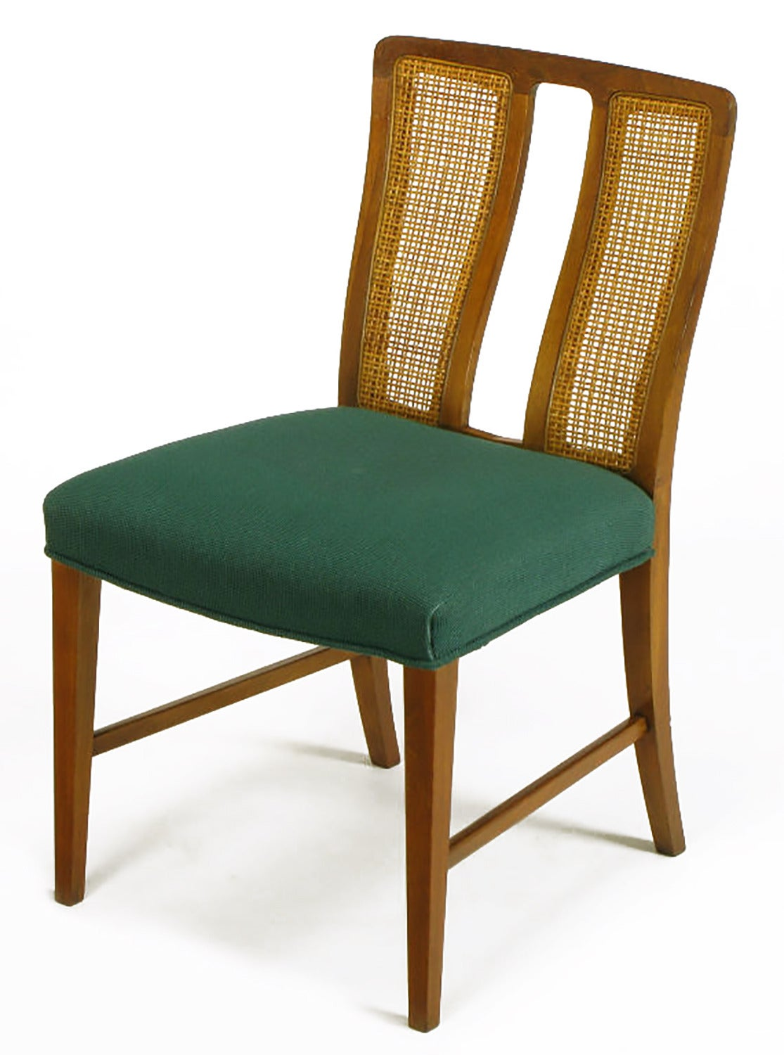 Baker Dining Chairs Eight Rare Baker Furniture Split Back Walnut Dining Chairs