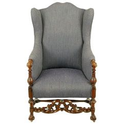 Wingback Chair For Sale Hydraulic Gaming Italian Regency Upholstered Wing With Carved Wood