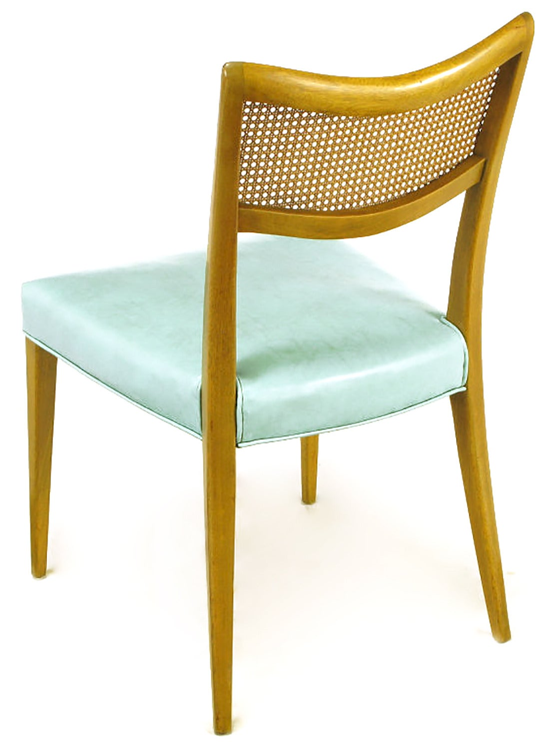 Tiffany Blue Chair Harvey Probber Tiffany Blue Leather And Mahogany Side Chair