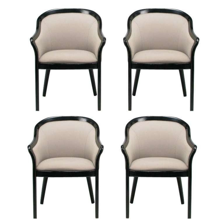 mid century barrel dining chair commercial beach chairs and umbrellas four italian back black dove grey armchairs for sale at 1stdibs
