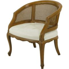 Cane Back Chairs For Sale Best Bean Bag Chair Adults French Regency Walnut And White Leather At