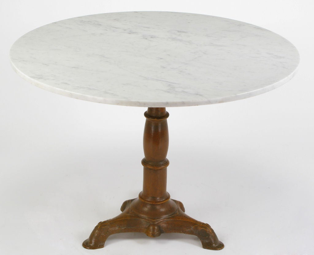 round marble table and chairs preschool carrera cast iron pedestal dining