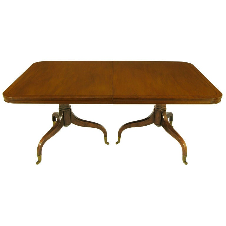 Kittinger Mahogany Dining Table With Unusual Double