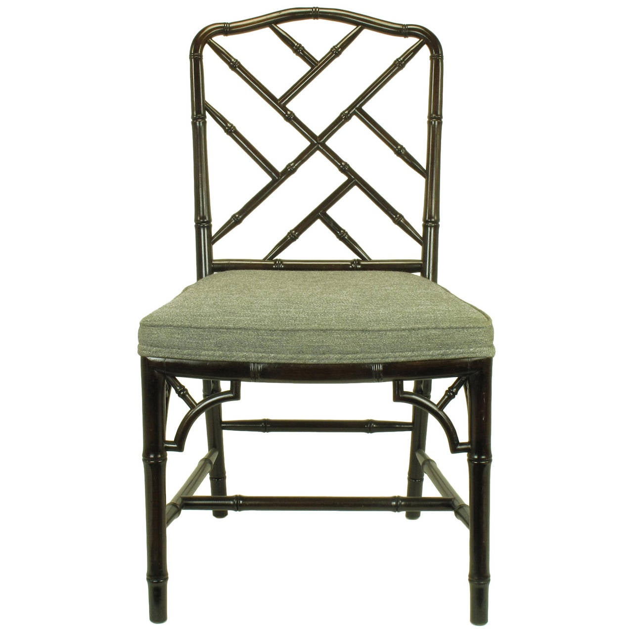 chinese chippendale chairs dining chair styles antique dark walnut faux bamboo desk at