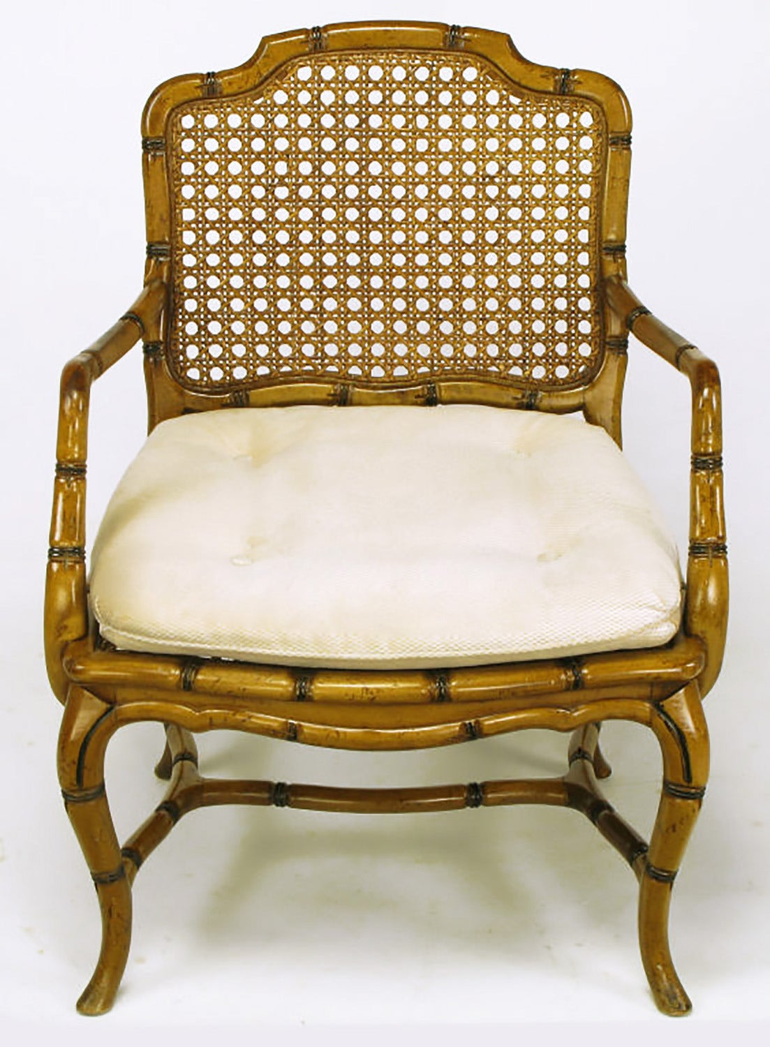 bamboo cane back chairs washable kitchen chair cushions form cabriole leg armchair for sale at