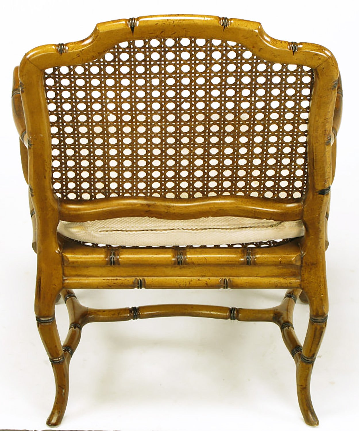 bamboo cane back chairs spindle chair legs form cabriole leg armchair for sale at