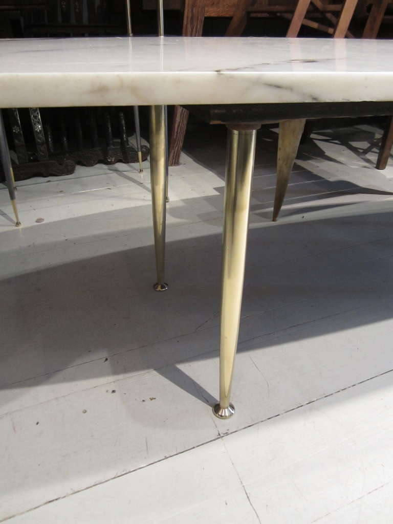 Italian Marble Top Coffee Table At 1stdibs