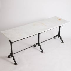 Antique French Bistro Table And Chairs Carolina Chair Bar Stools With Marble Top Circa 1900 At
