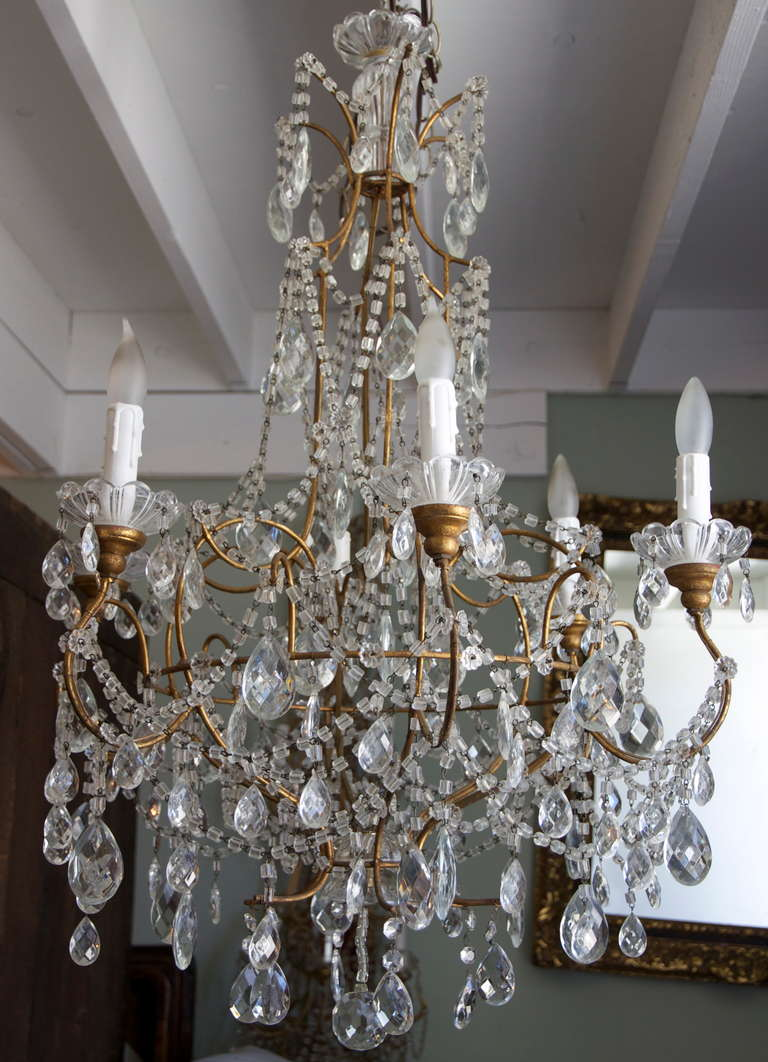 Metal Pendant Light Crystals