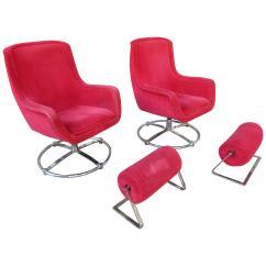 Swivel Club Chair With Ottoman Massage Albuquerque Ward Bennett Lounge At 1stdibs