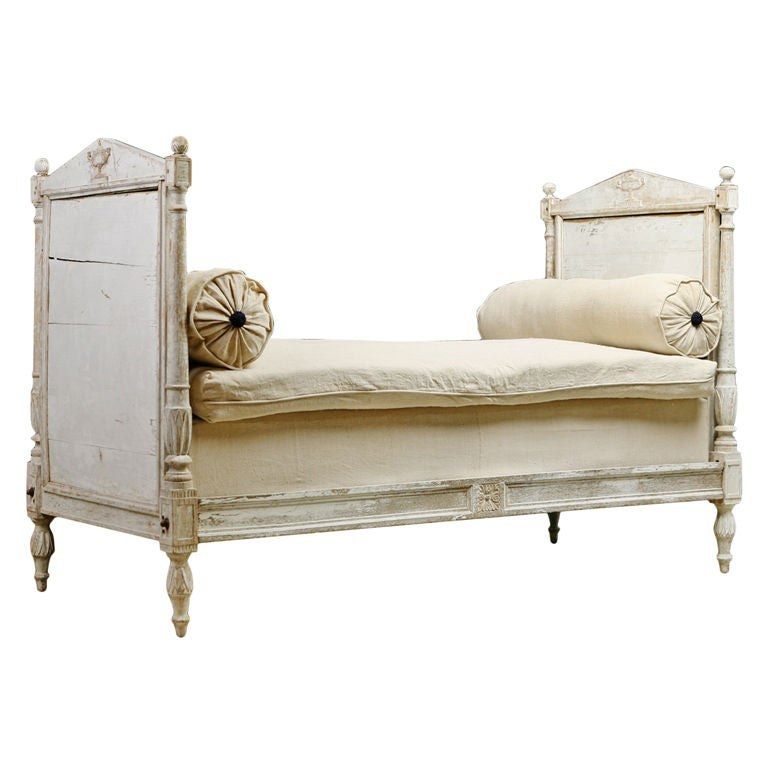 French Antique Directoire Painted Daybed at 1stdibs