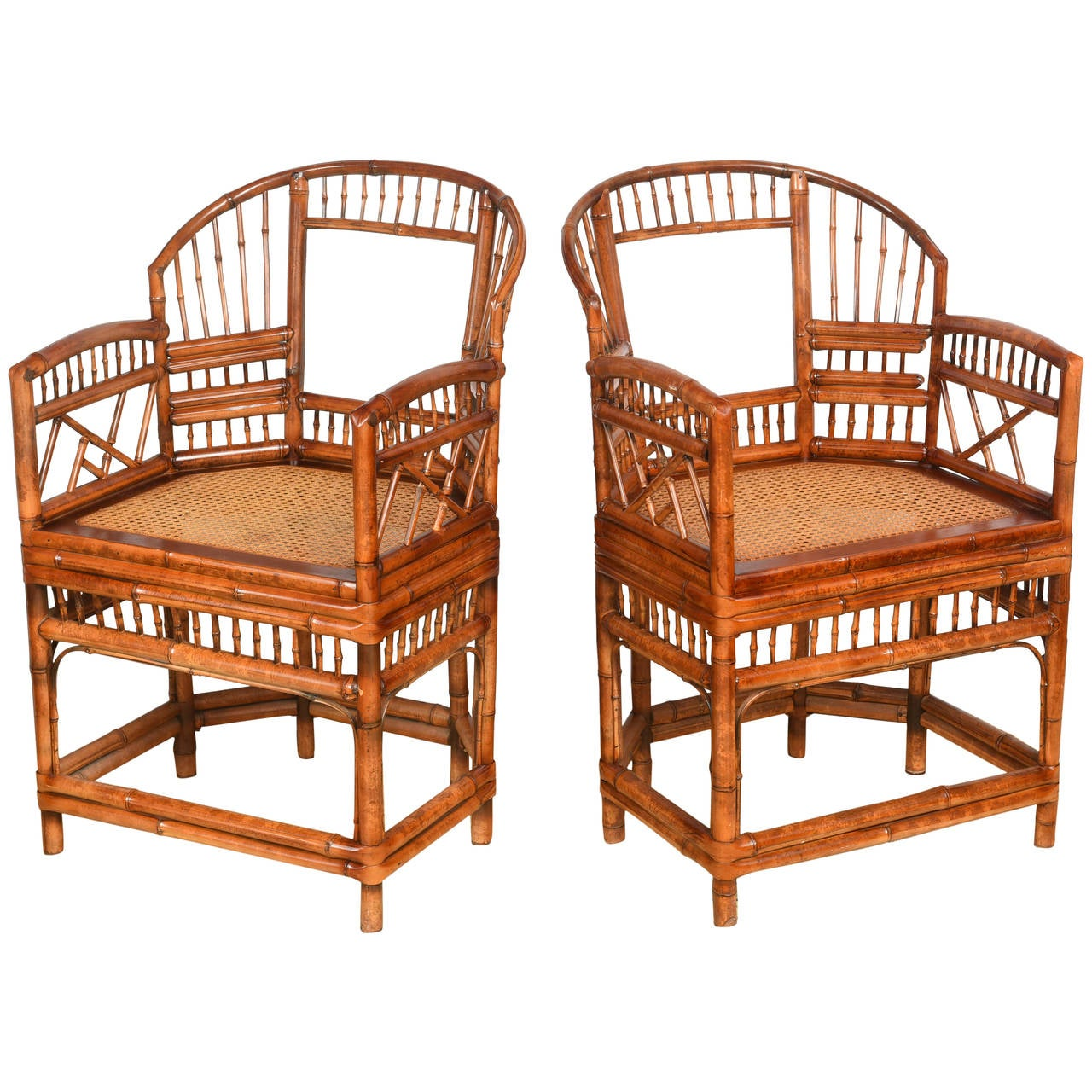 cane chairs for sale chair babies pair of vintage bamboo with seats at 1stdibs