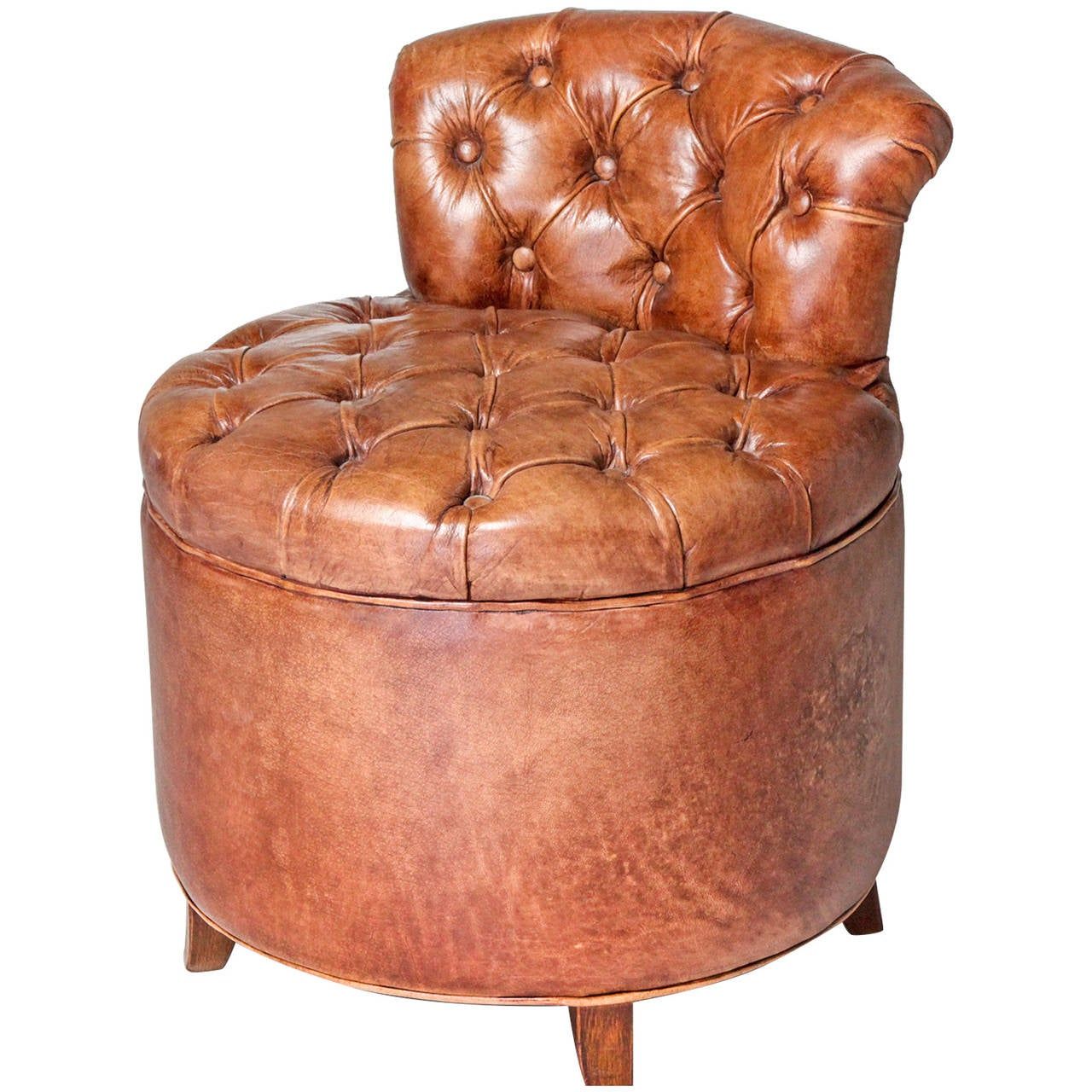 Tufted Leather Chair Tufted Leather Chair For Sale At 1stdibs