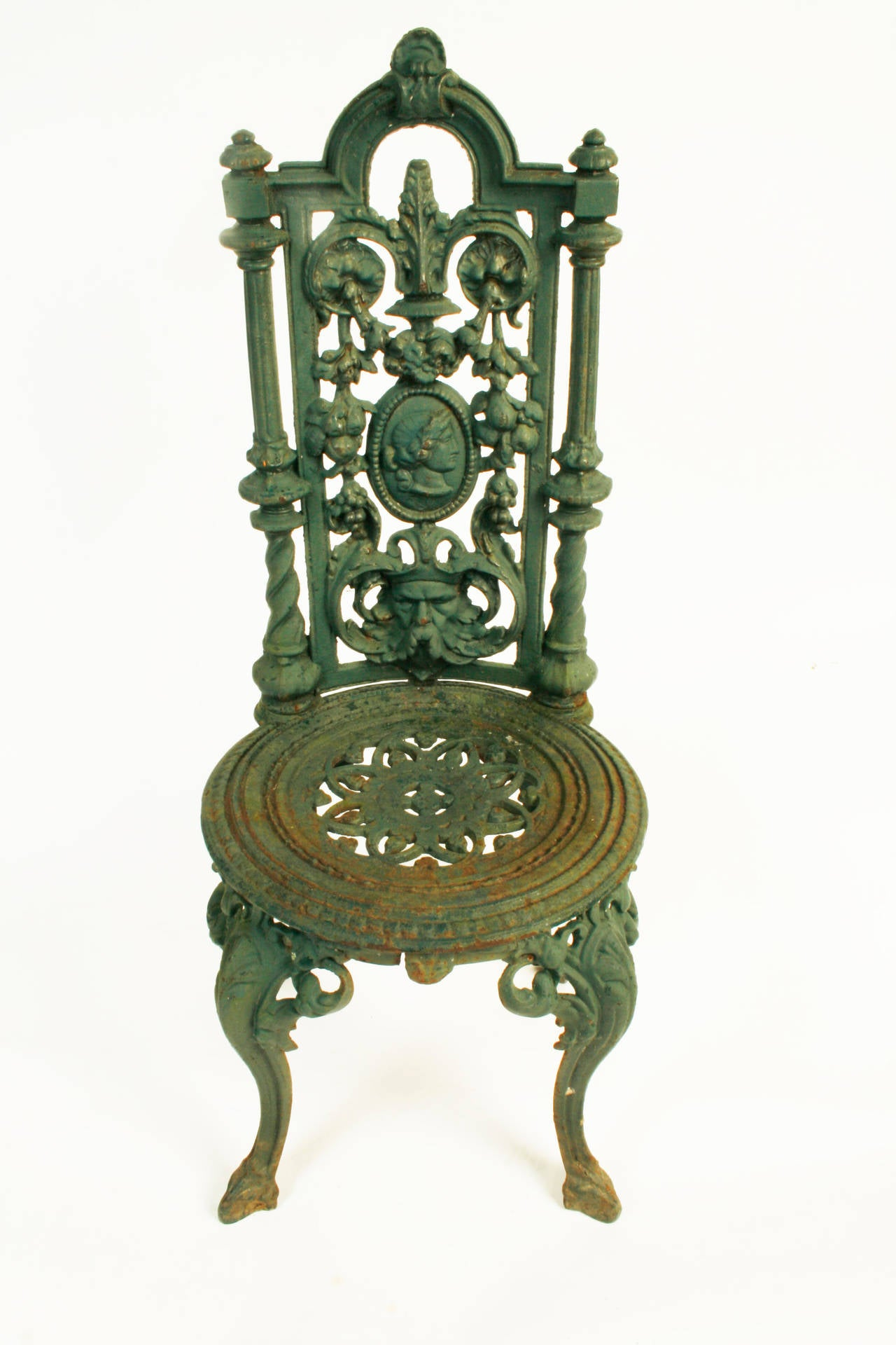 cast iron outdoor chairs butterfly lounge chair pair of victorian garden c1880 at 1stdibs