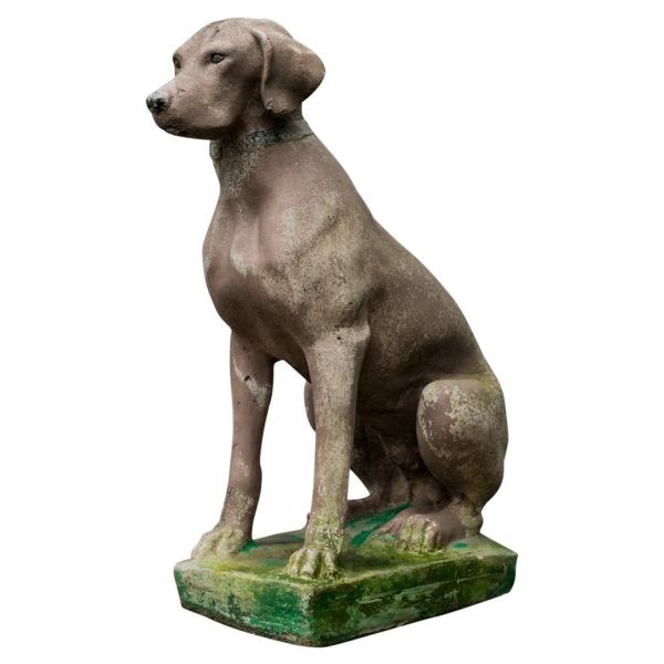 Large Cement Dog Statues