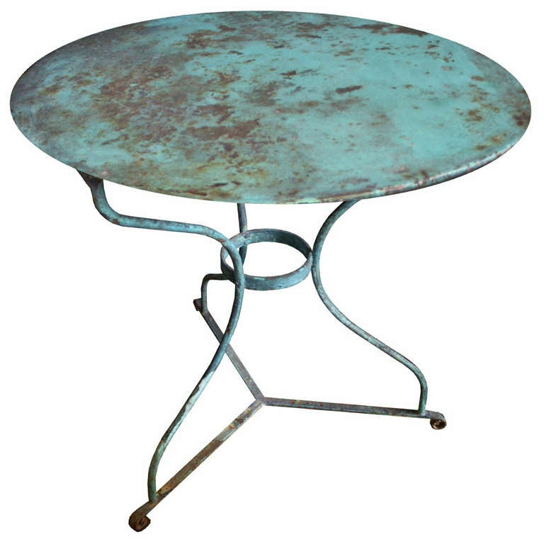 antique french bistro table and chairs hans wegner chair vintage at 1stdibs for sale