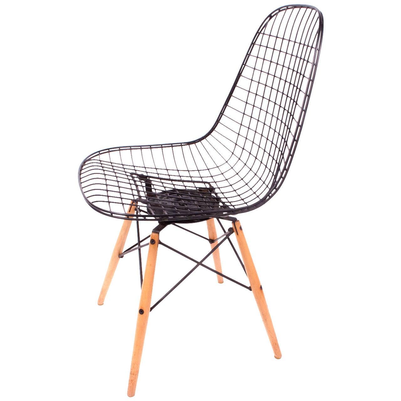 Original Pkw Charles Eames Dowel Leg Swivel Chair At 1stdibs