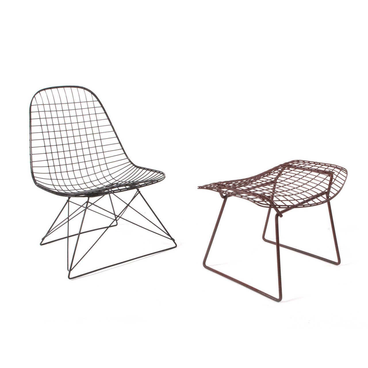 LKR-2 Charles Eames Wire Lounge Chair and Harry Bertoia