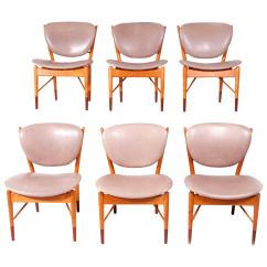 Set Of Six Dining Chairs For Sale Outdoor Counter Height Finn Juhl Nv 51 Baker