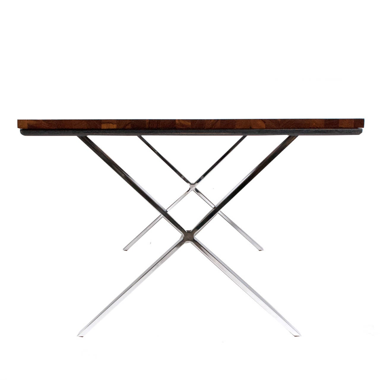Solid Rosewood Dining Or Work Table Milo Baughman At 1stdibs