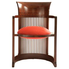 Frank Lloyd Wright Chairs Counter Height Dining Table And Barrel Chair At 1stdibs For Sale