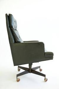 Edward Wormley Executive Swivel Chair at 1stdibs
