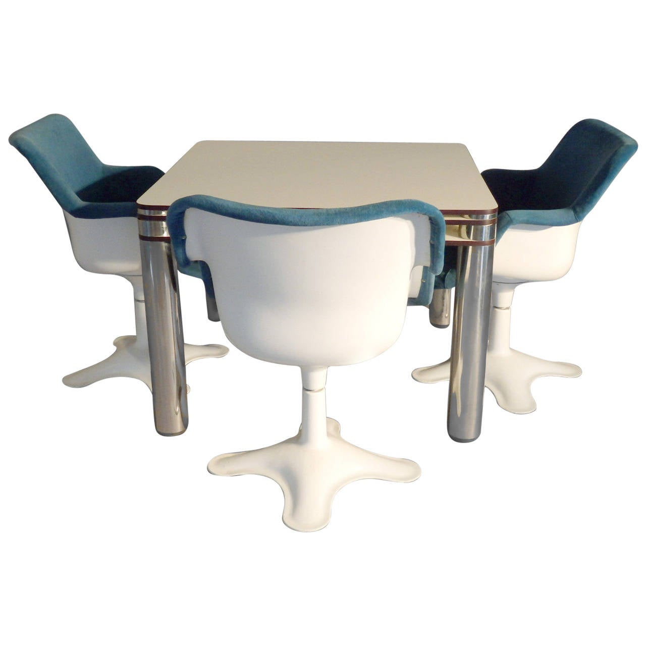 table with swivel chairs folding lawn heavy duty post modern italian poker game four