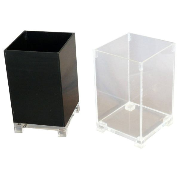 Pair Of Lucite Trash Cans 1stdibs