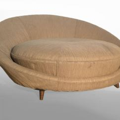 Round Sofa Chair Curved Leather Dining Lounge Modern Home Design