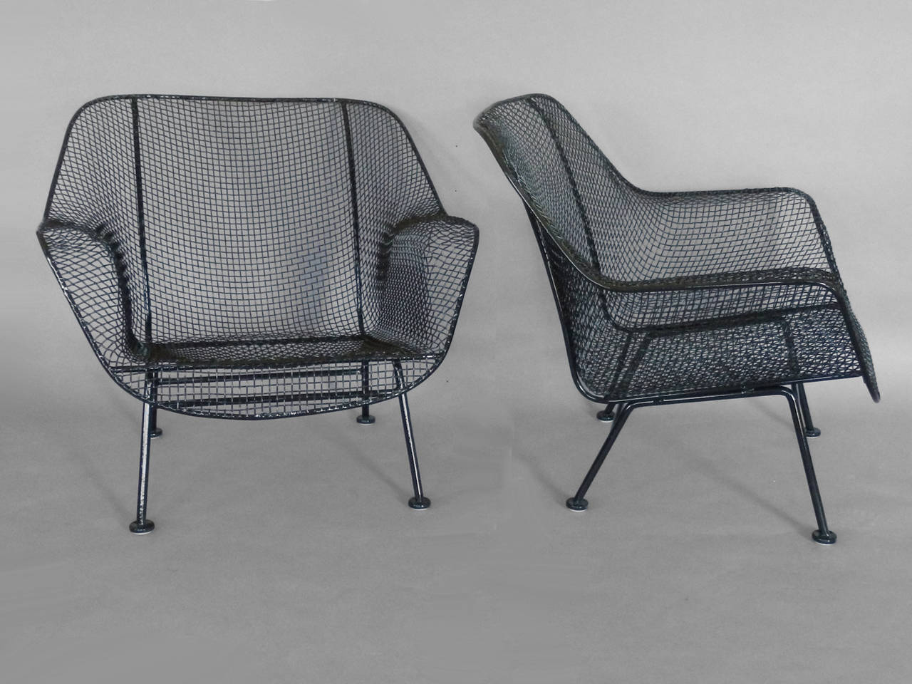 Mesh Lounge Chair Pair Of Woodard Wrought Iron With Mesh Lounge Chairs At