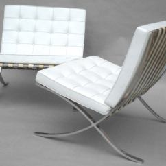 Barcelona Chair Used Small Scale Leather Club Chairs Mies Van Der Rohe For Knoll At 1stdibs