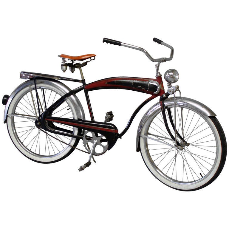 Gentlemans Balloon Tire Spring Suspension Bicycle For Sale