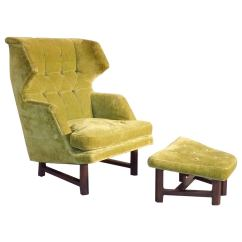 Large Lounge Chair Covers Pretoria Best Edward Wormley With Ottoman At 1stdibs