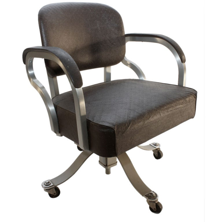 Machine Age Industrial Swivel Desk Office Chair at 1stdibs