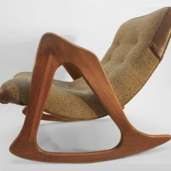 Adrian Pearsall Rocking Chair Smart Accessories For Craft Associates At 1stdibs