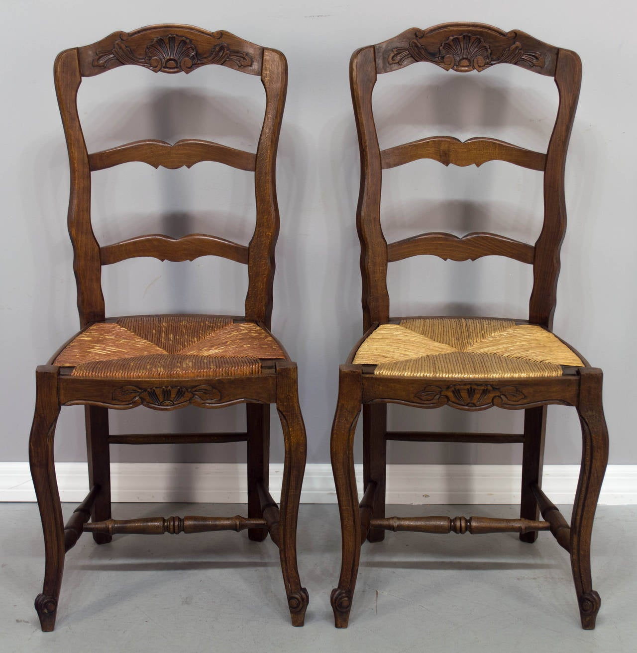 how to rush a chair rolling desk set of six french country seat chairs at 1stdibs