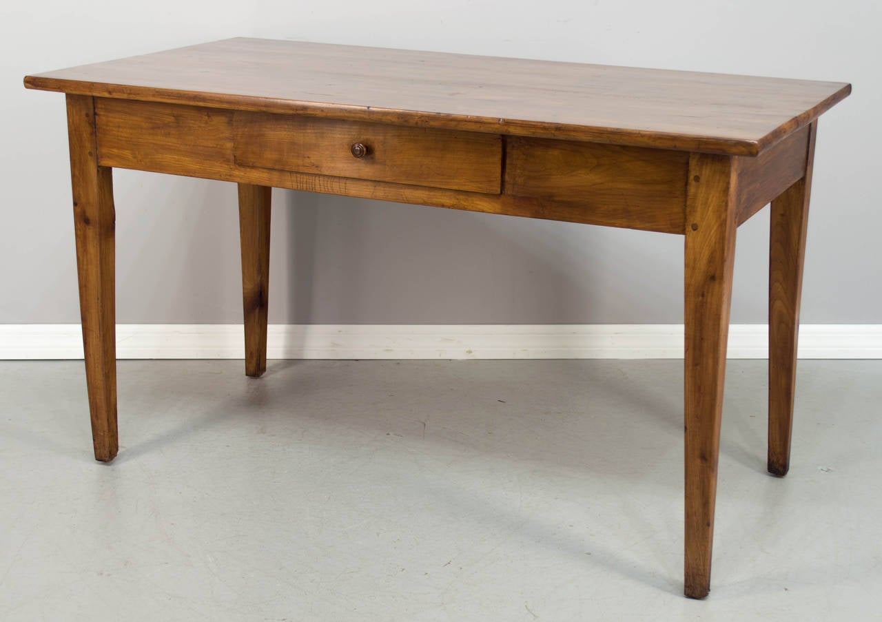 french country farm table and chairs brown armless chair in cherry at 1stdibs