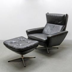 Leather Lounge Chair With Ottoman How To Make A Cover Without Sewing Georg Thams At 1stdibs