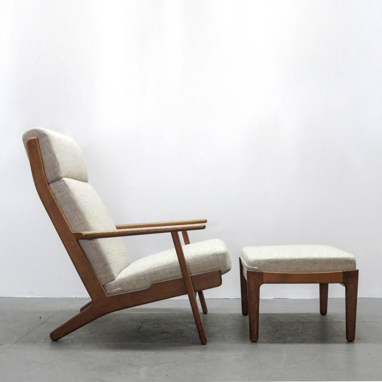 high backed chair card table and chairs cosco hans j wegner ge 290 back ottoman at 1stdibs