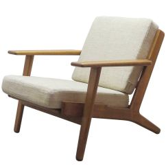 Hans Wegner The Chair Mid Century Wicker J Ge 290 Lounge At 1stdibs