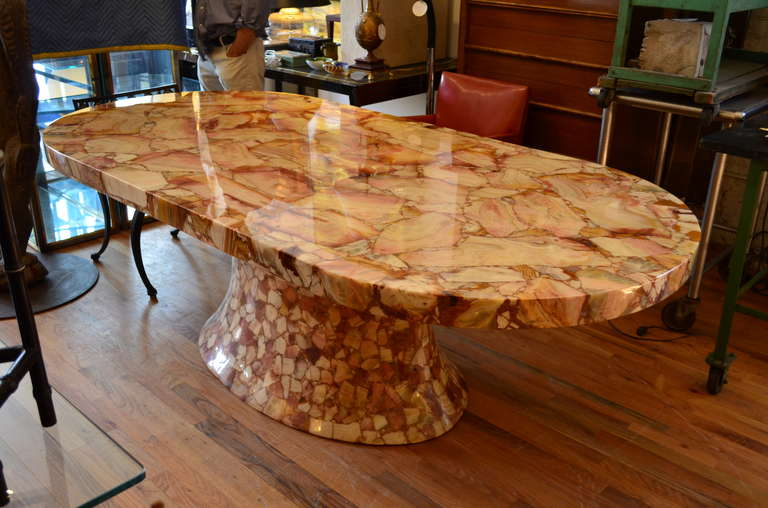 Onyx Oval Dining Table By Mullers Of Mexico For Sale At