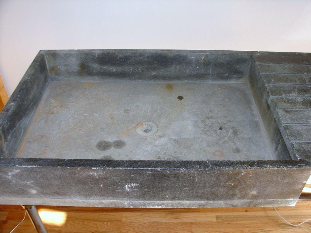 industrial soapstone sink or wet bar