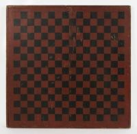 Large and Impressive, Paint Decorated Game Board in Red ...