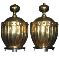 Pair Stiffel Large Scale Brass Chinoiserie Lamps c.1960s ...