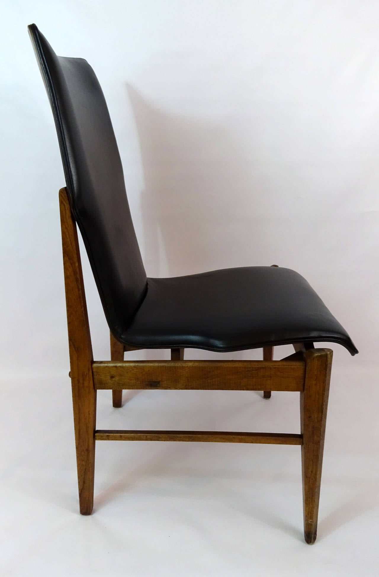 mid century modern side chair ergonomic executive circa 1960 at 1stdibs