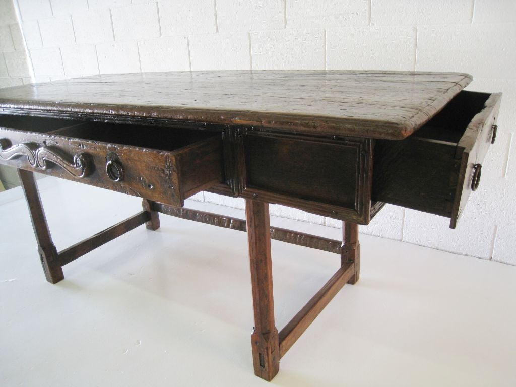 Large Spanish Table  Desk For Sale at 1stdibs